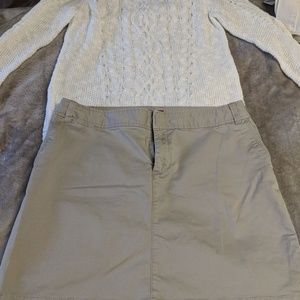 💛Super cute merona size 14 khaki skirt